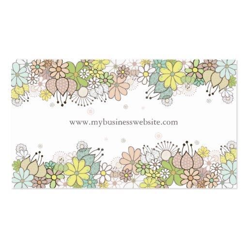 Natürliche Blüten-elegante kundenspezifische Visit Visitenkartenvorlage