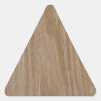 Natürliche Eiche (Fotodruck von) Dreiecks-Aufkleber