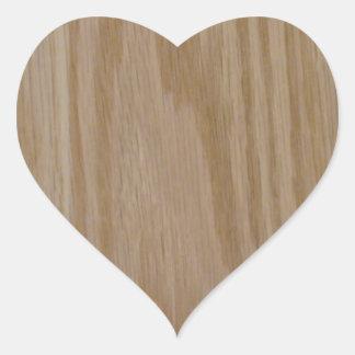 Natürliche Eiche (Fotodruck von) Herz Sticker