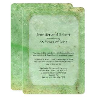 Natürliche Jade-35. Hochzeitstag-Einladung 12,7 X 17,8 Cm Einladungskarte