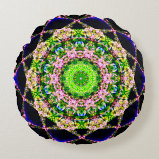 Natürliche Mandala Rundes Kissen