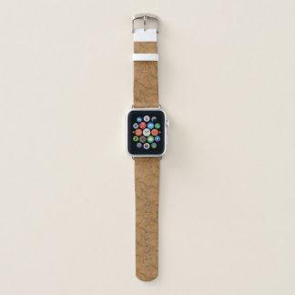 Natürliche Rauch-Korken-Barken-hölzerner Apple Watch Armband