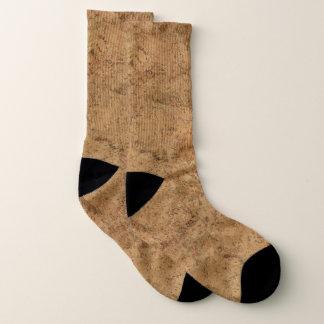 Natürliche Rauch-Korken-Barken-hölzerner Socken