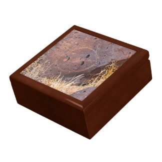 Natürliche Steinpetroglyphe Geschenkbox