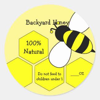 Natürlicher Aufkleber des Hinterhof-Honig-100%