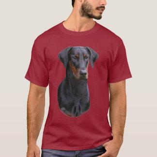 Natürlicher ohriger schwarzer Dobermannpinscher T-Shirt