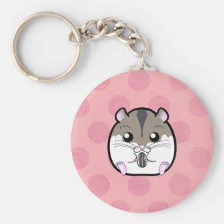 Natürlicher russischer zwergartiger Hamster Standard Runder Schlüsselanhänger