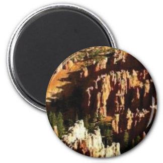 natürlicher Wüstenblick Runder Magnet 5,1 Cm