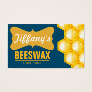 Natürliches Bio reines Bienenwachs des Visitenkarte