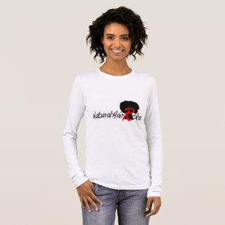 Natürliches Haar schaukelt langes Hülsen-Shirt Langarm T-Shirt