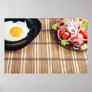 Natürliches selbst gemachtes Frühstück des Poster