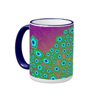 Natürliches zelluläres Kunst-Muster Kaffee Haferl