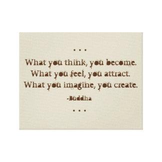 Natürliches Zen-Zitat durch Buddha Leinwanddruck