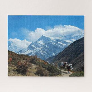 Naturschnee Himalaja-Gebirgsindiens Nepal Puzzle