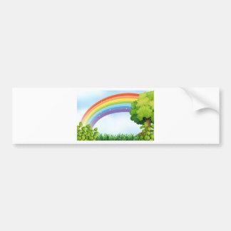 Naturszene mit Regenbogen Autoaufkleber