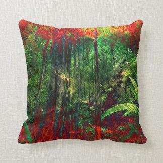 NaturwaldWurf Kissen des Dschungels grünes rotes