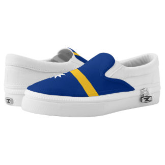 Nauru-Flagge Slip-On Sneaker