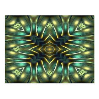 Nautilus-Kaleidoskop-Entwurf No.12 Postkarte