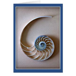 Nautilus-Muschel-Abschnitt Karte