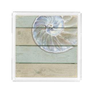 Nautilus-Muschel Acryl Tablett