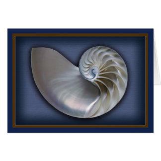Nautilus-Muschel horizontale 2 Karte