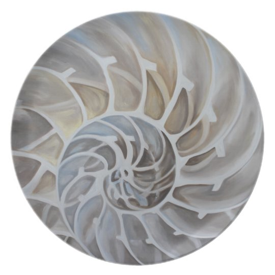 Nautilus-Muschel-Melamin-Platte Melaminteller