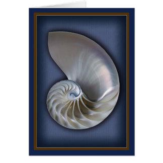 Nautilus-Muschel-Vertikale 2 Karte