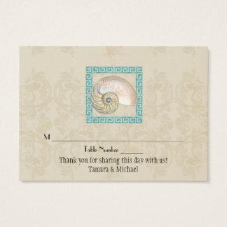 Nautilus-Muschelwatercolor-griechischer Visitenkarte