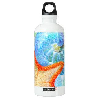 Nautilus und Starfish Aluminiumwasserflasche