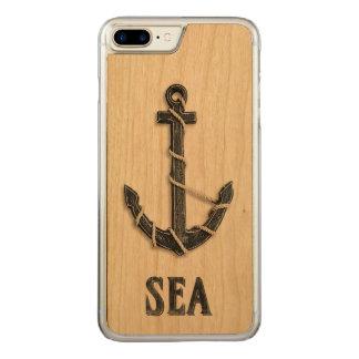 Nautisch - Anker mit Seewort-Kunst Carved iPhone 8 Plus/7 Plus Hülle