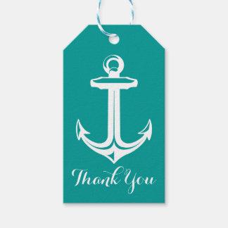 Nautisch danke, den aquamarinen zu versenden geschenkanhänger