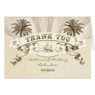 nautisch danke Hochzeit in Urlaubsortskarten Karte