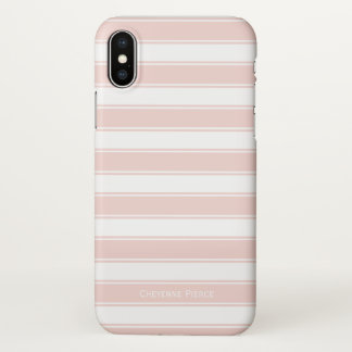 Nautisch erröten rosa personalisiertes Monogramm iPhone X Hülle