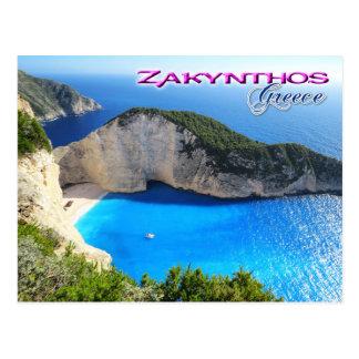 Navagio Strand, Zakynthos, Griechenland Postkarte