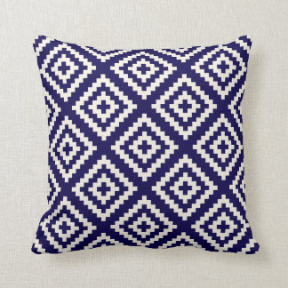 Navajo-geometrisches Muster-Kobalt-Blau Kissen
