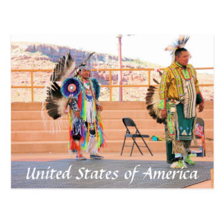 Navajo-nordamerikanische Ureinwohnerpostkarte Postkarte