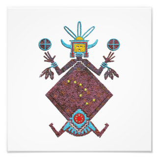 Navajo-Sand-Malerei und Mythologie Fotodruck