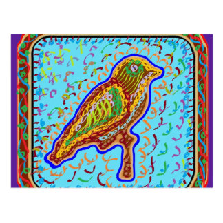 Naveen: Gezwitscher-Saisonvögel Postkarte