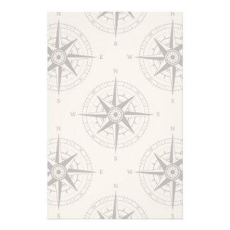 Navigations-Kompass-Muster Individuelles Büropapier