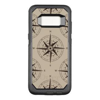Navigations-Kompass-Muster OtterBox Commuter Samsung Galaxy S8 Hülle