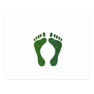 navinJOSHI NVN36 Grün-Abdruck EarthDay Erwärmung Postkarte