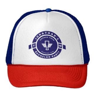 Navy Blue Beer Badge Bachelor Party Branding Retrokultmützen