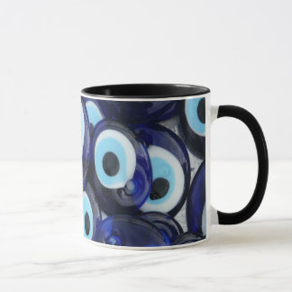 Nazar-Amulett-böser Blick entsteint blaues Muster Tasse
