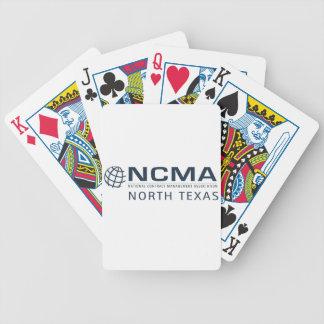 ncma-logo_1color_north-texas Rev 1 Bicycle Spielkarten