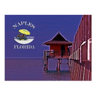 Neapel-Pier in den Blues Postkarte