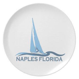 Neapel-Strand - Segeln-Entwurf Teller