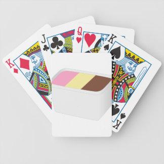Neapolitanische Eiscreme Bicycle Spielkarten