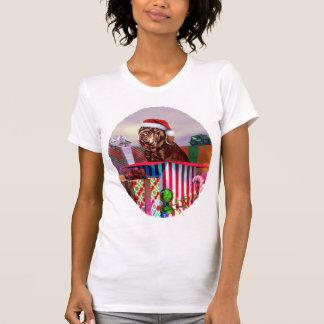 Neapolitanischer Mastiff-Weihnachtsmahagonibaum T-Shirt