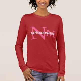 Neapolitanischer Mastiff-Zucht-Monogramm-Entwurf Langarm T-Shirt