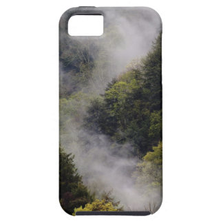 Nebel, der vom Bergabhang nach Frühlingsregen Hülle Fürs iPhone 5